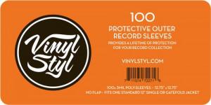 100 Bolsas para disco vinil Vinyl Styl (Poly Sleeve para LP's - 100 Unid)