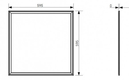 140066707 LED painel WH 595x595mm 36W 3240lm 4000K UGR19 IP20 A+ IP20