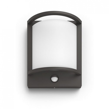 17392/93/PO Philips Samondra IR wall lantern anthracite LED 12W 1200lm IP44