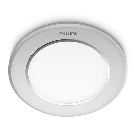 66071/48/16 Philips NAOS recessed LED aluminium Ø furo 90mm  6W 300lm 4000K IP20