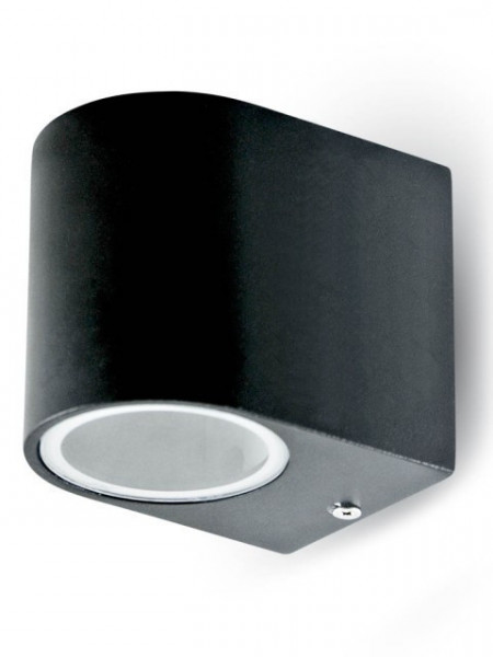 7508 Aplique  Aluminium Round Black 1 Way 1xGU10 IP44