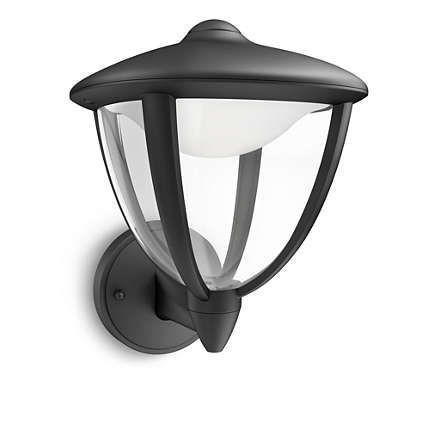 15470/30/16 Philips myGarden Wall light Robin black LED 4,5W 430lm IP44