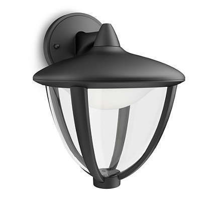 Imagens 15471/30/16 Philips myGarden Wall light Robin black LED 4,5W 430lm IP44