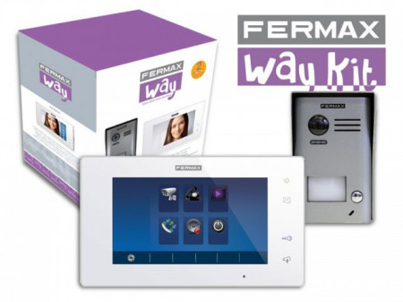 1401 Kit Videoporteiro WAY com monitor cores 7""