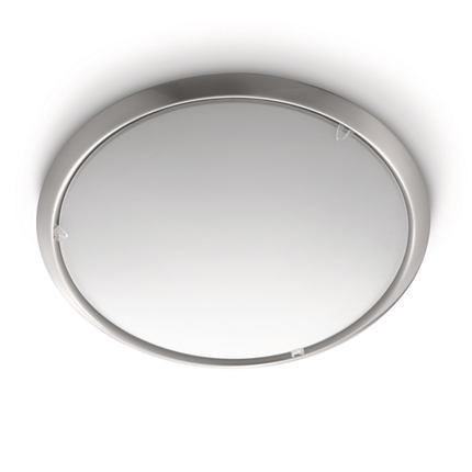 Imagens 30050/17/16 Philips Circle ceiling lamp nickel 2x75W 230V - 2X75 W-230 V/E27(PLCE)Not Included