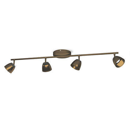 Imagens 53354/06/16 Philips County bar/tube bronze 4x4W 4x330lm