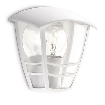 15387/31/16 Philips Creek wall lantern white E27 IP44