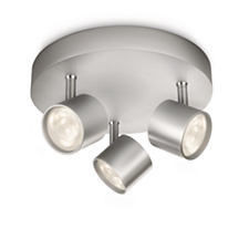 56243/48/16 Philips STAR plate/spiral LED aluminium 3x4W 3x500lm