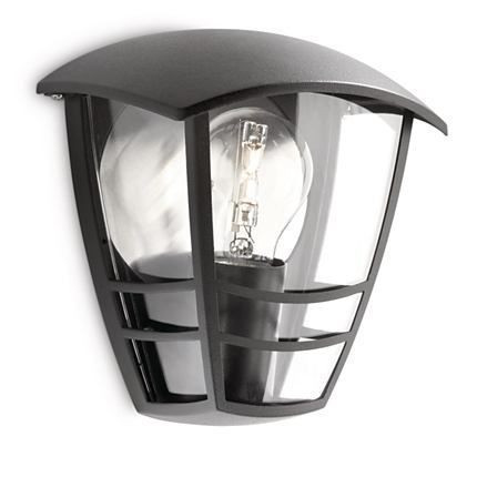 15387/30/16 Philips Creek wall lantern black E27 IP44