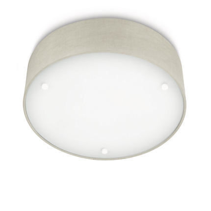 Imagens 30175/87/16 Philips Velour Wall and Ceiling Light grey 2x23W 2x1430lm 2700K