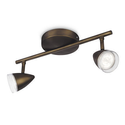 Imagens 53212/06/16 Philips MAPLE bar/tube LED bronze 2x4W SELV