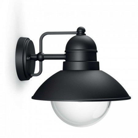 17237/30/PN Philips Hoverfly preto E27 IP44