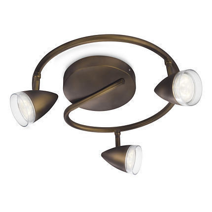 Imagens 53219/06/16 Philips MAPLE plate/spiral LED bronze 3x4W SELV