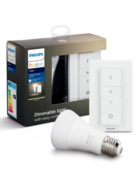 HUE Wireless Kit E27 Bluetooth 9W 806lm 2700K + Dimmer Switch