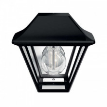 16494/30/PN Philips Wall light Alpenglow black E27 IP44