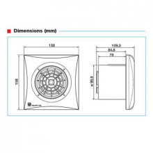 SILENT-100CRZ Extractor p/ WC c/ Timer 8W 95m3/h 26,5db IP45