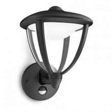 15479/30/16 Philips myGarden Wall light Robin black com sensor LED 4.5W 430lm