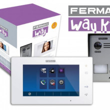 1401 Fermax Kit Videoporteiro WAY com monitor cores 7""