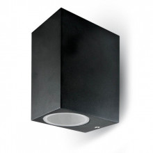 7511 Aplique 2xGU10 Aluminium Square 2 Way IP44