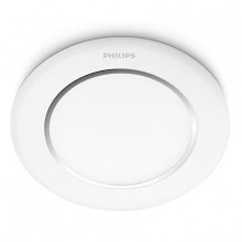 66063/31/16  Philips NAOS recessed LED White Ø furo 90mm  6W 270lm 2700K IP20