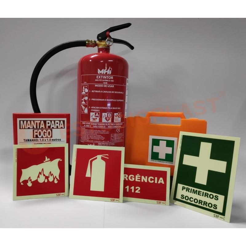 Extintores e meios de combate a incêndio