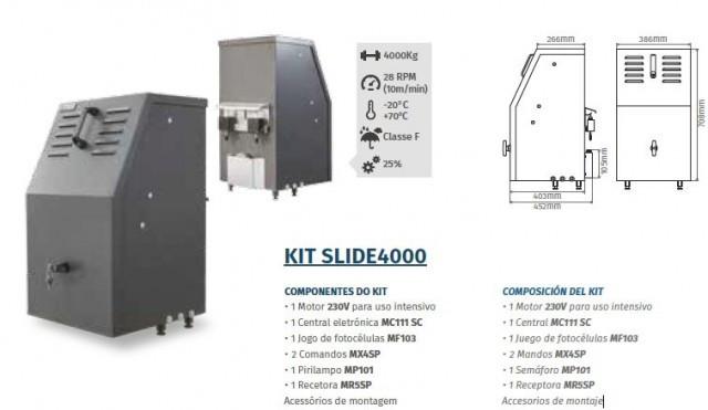 Motorline kit slide4000 automatismos para port es de correr for Automatismos para toldos