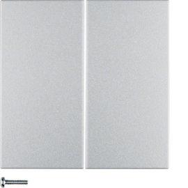 85146183 HAGER B.7 - tecla dupla KNX RF, alumínio mate***