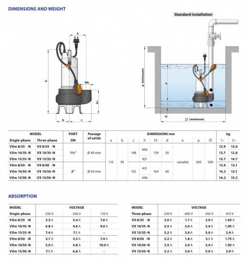 ELECTROBOMBA PEDROLLO VXM10/35-N 230V