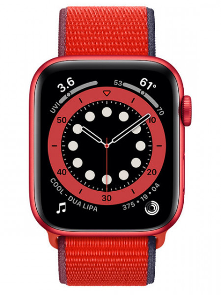 Watch Apple Watch Series 6 GPS 44mm Red Aluminum Case with Sport Band - Red EU