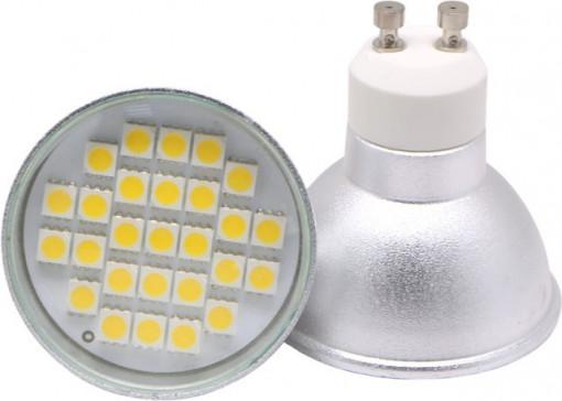 Lâmpada LED GU10 4,5W 120º SMD (três Cores disponíveis)