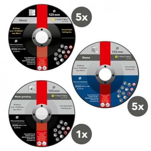 Discos de Rebarbar e Desbaste - Pacote com 11 peças