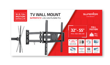 Suporte TV 32-55 FULL MOTION EXTRA SLIM – Superior