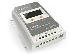 TRACER1210A Regulador de Carga MPPT A Series 10A/10A 12V/24V c/ Display LCD EP SOLAR