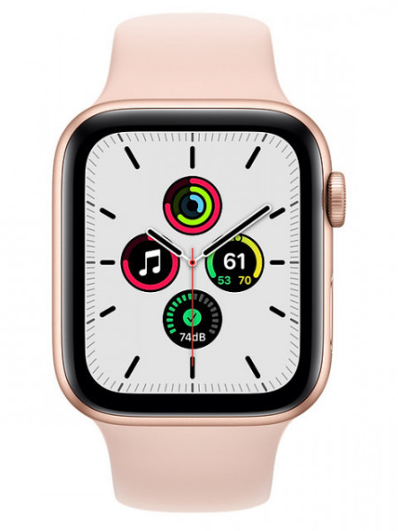 Watch Apple Watch SE GPS 44mm Gold Aluminum Case with Sport Band - Pink Sand EU
