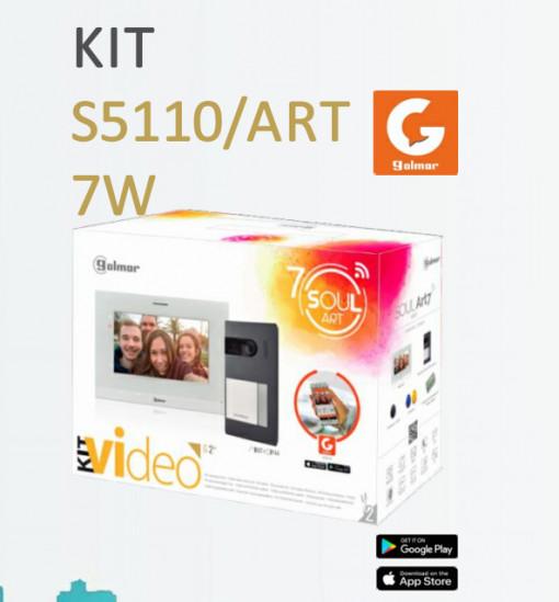 GOLMAR -Kit vídeo SOUL/ART7W - 1 botão chamada mãos-livres WIFI INTEGRADO S5110/ART 7W