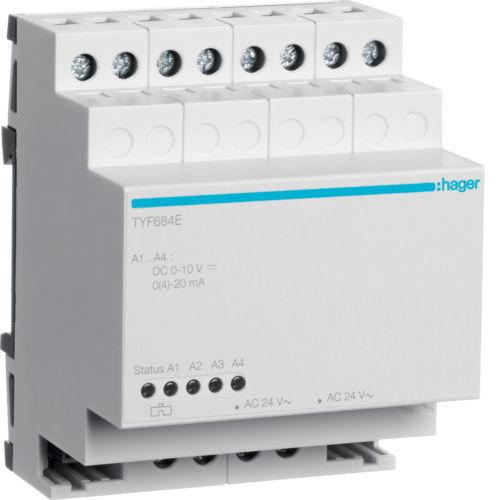 TYF684E - Actuador analógico expansão 4 canais HAGER EAN:3250616059955