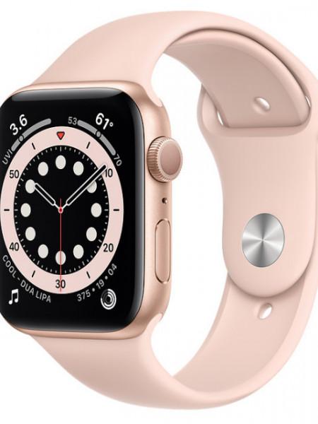 Watch Apple Watch Series 6 GPS 44mm Gold Aluminum Case with Sport Band - Pink EU