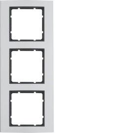 BERKER - 10133004 - B.3 - quadro x3, alumínio/antracite 23