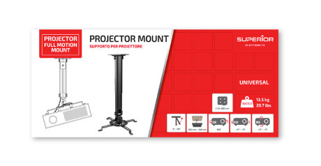 Suporte Universal do Projetor FULL MOTION – Superior