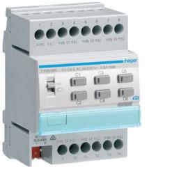 TYM646R - Actuador aquec. 6c + reg. 24/230V KNX-S HAGER EAN:3250618502022