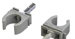 JSL Material Fixacao Abraçadeiras agrupáveis para cabos e tubos série 200 c/ bucha M6 rápida -