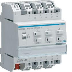 TXA606B - Actuador bin./est. 6 canais 10A KNX HAGER EAN:3250616048850