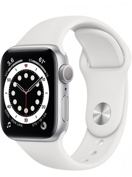 Watch Apple Watch Series 6 GPS 40mm Silver Aluminum Case with Sport Band - White EU