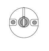 JSL Iluminação Suporte de topo (bolacha) c/.mola ap.rápido -