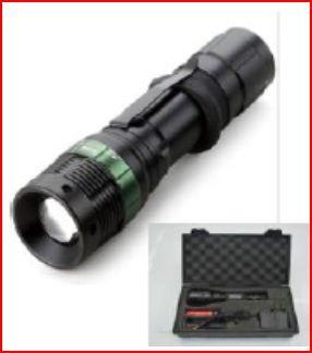 Lanterna c/ bateria 10W com foco ajustável e regulação PRETA