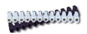Ligador dominó em U PP 16mm 30A (barra 10 ligadores)