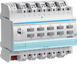 TYA610D - Actuador bin/est 10 canais 16A Cap KNX-S HAGER EAN:3250616059757