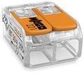 WAGO - Ligador compacto | até 0 4mm* | laranja I transparente | 2 condutores | ref. 221-412