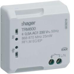 TRM600 - Micro módulo p/ cmd autom. escada RF HAGER EAN:3250615989086