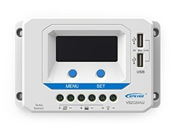 VS2024AU Regulador de Carga PWM 20A 12/24V EP SOLAR